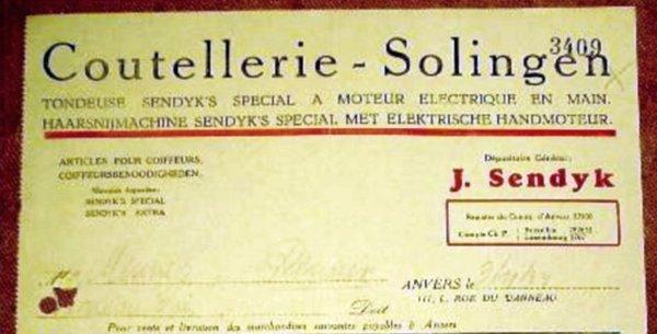 SENDYK,J. Antwerpen(Anvers) Rechnung 1924 a1.jpg
